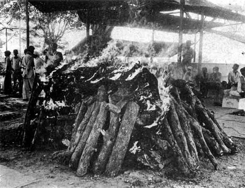 Bhopal 1984 Funeral pyres